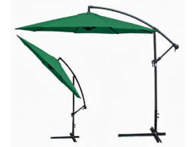 Verdegarden Garden Umbrella with arm  mod. Giuditta color Green