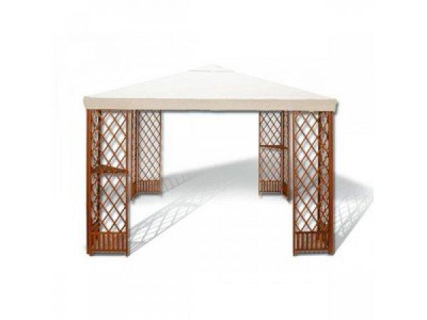Gartenpavillon holz mod oliando 3x3 m mit ecken verdegarden - Gartenpavillon holz 3x3 ...