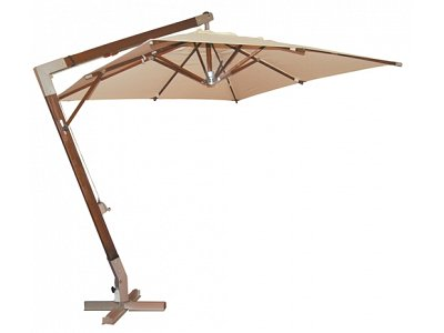 Verdegarden Patio Umbrella with lateral arm mod. Helios 3x3 Havana