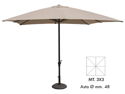 Vette Patio Umbrella 3X3 mod.Verdegarden beige