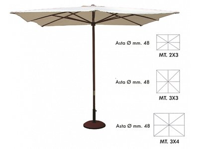 Vette Patio Umbrella 4 x 3 mod. Helios