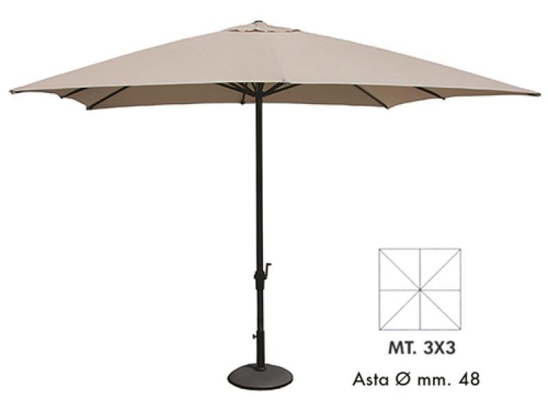 M M Ombrelloni.Patio Umbrella 3x3 Mod Verdegarden Beige Vette