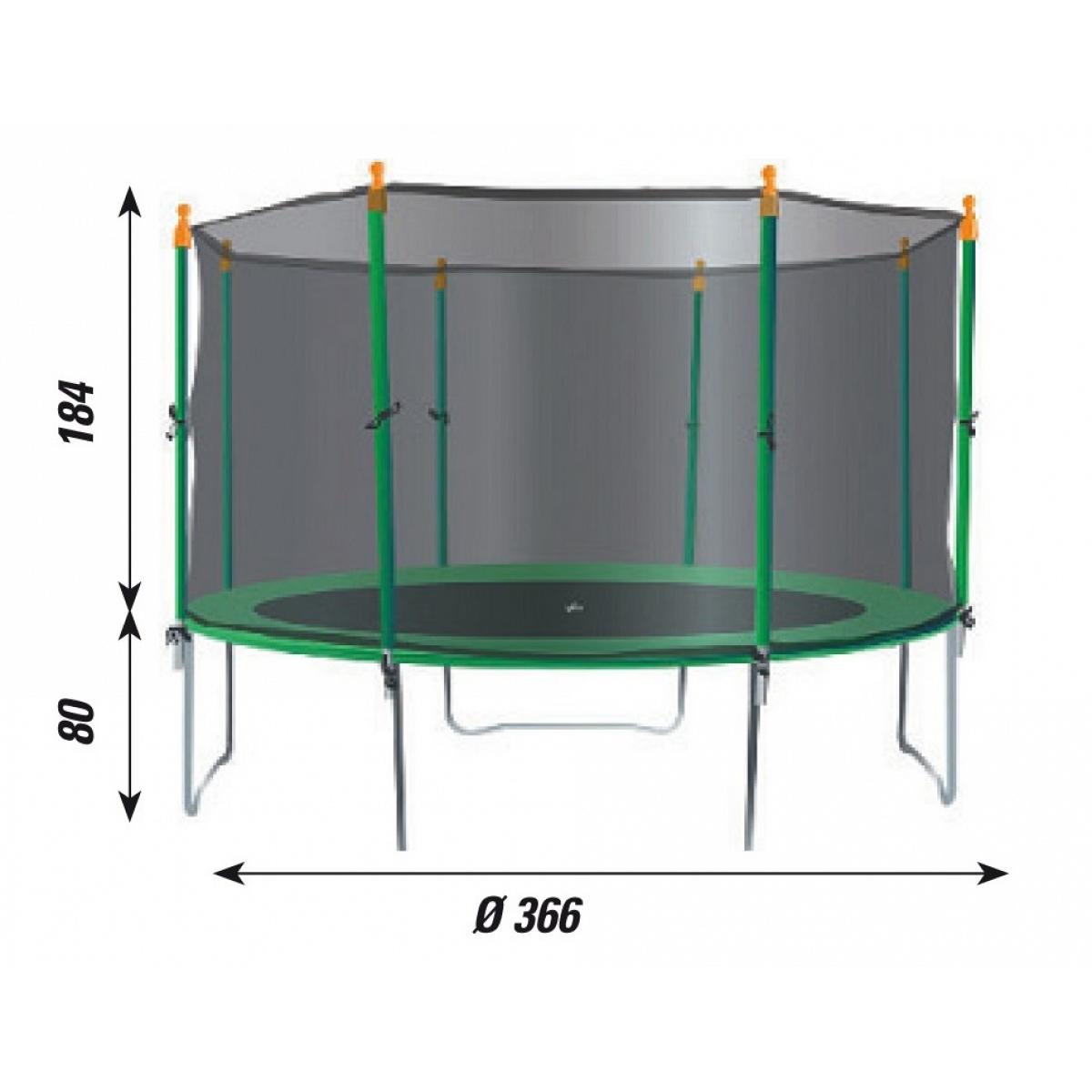 Kinder trampolin mit sicherheitsnetz verdegarden mod te370 for Gartenpool rund aufblasbar