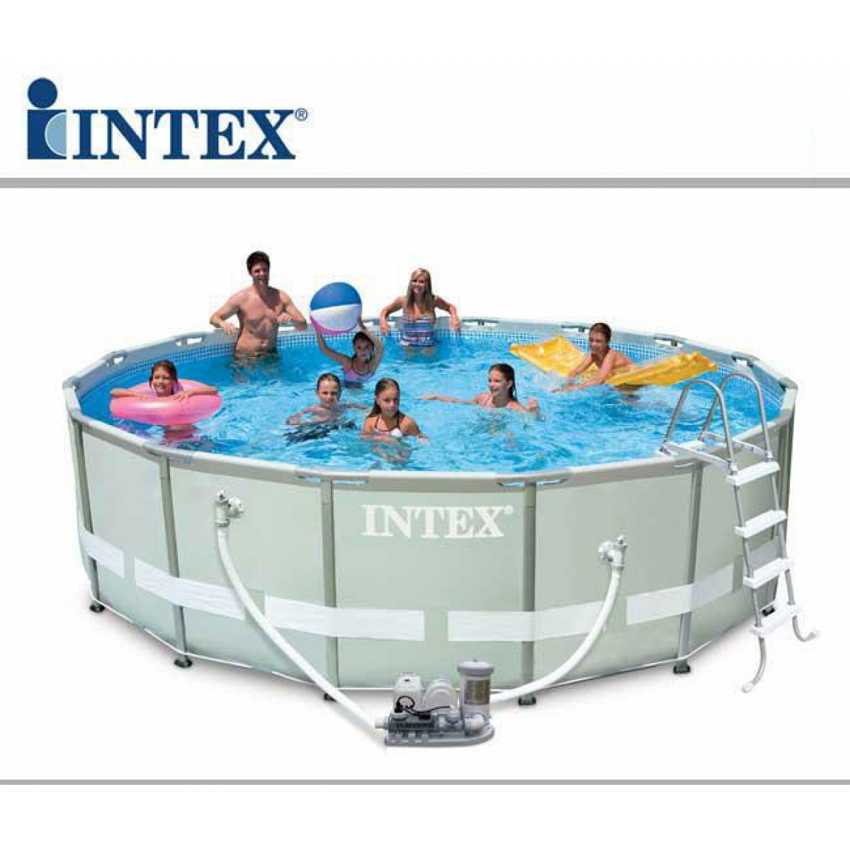 Intex Round Metal Frame Pool 10 24