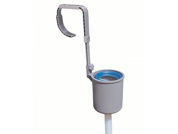 Oberfl chenskimmer mit wandhalterung f r filterpumpe bestway for Gartenpool rechteckig