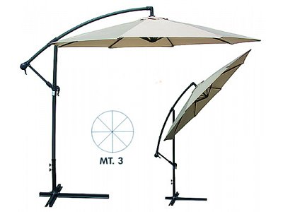 Verdegarden Garden Umbrella with arm mod. Giuditta