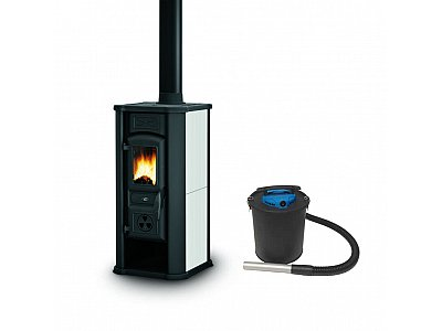 Palazzetti Woodstove white Royal Palazzetti mod. Efesto with ash cleaner 600 W