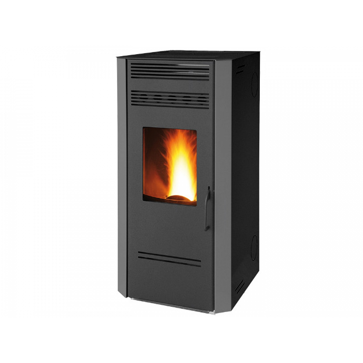 Black Pellet Stove 9 Amp 5 Kw With Health System