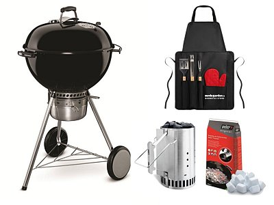 Weber Charcoal Weber Master Touch GBS 57 cm with apron and Chimney Kit