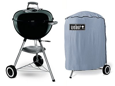Weber Coal barbecue Weber Original Kettle black 47 cm with case