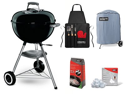 Weber Coal Original Weber Barbecue Kettle nero 47 cm with complete Kit