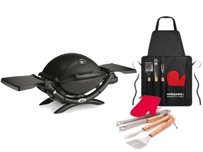 Weber Portable gas BBQ Weber Q 1200 with barbecue apron