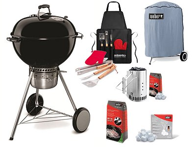 Weber Charcoal Weber Master touch GBS 57 cm with complete kit ready to be used