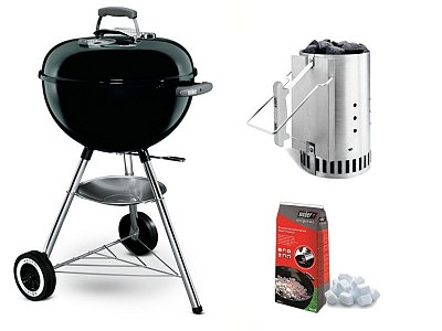 Weber Coal Weber Original Barbecue Kettle black 47 cm with Chimney Kit