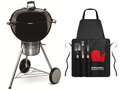 Weber Charcoal Weber Master Touch BBQ GBS 57 cm with apron to grill