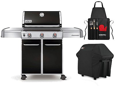 Weber Gas BBQ Weber Genesis E-310 with cover and barbecue apron