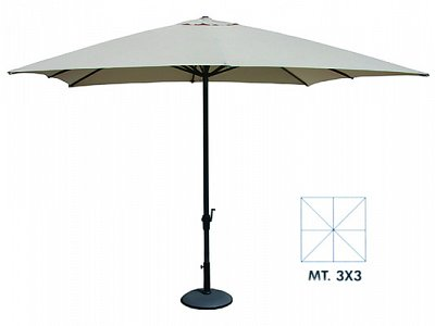 Vette Patio Umbrella 3X3 mod.Verdegarden Green