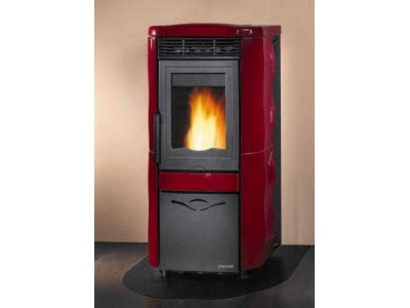 channeled pellet stove 10 5 kw mod marianna elite steel