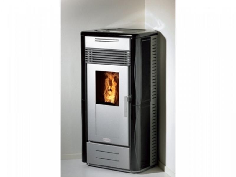 Corner pellet stove evo elledi thermal power 9 2 kw - Elledi stufe a pellet ...