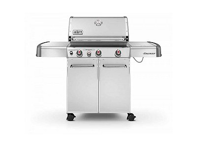 Weber Gas BBQ Weber Genesis S-330 GBS Inox with barbecue apron