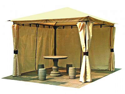 Vette Gazebo with steel structure 3x3 mt Heavy polyester veins