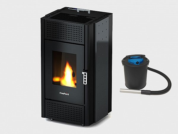 FreePoint Cadel Free 6.5 kW pellet stove ideal for 156 mq white color