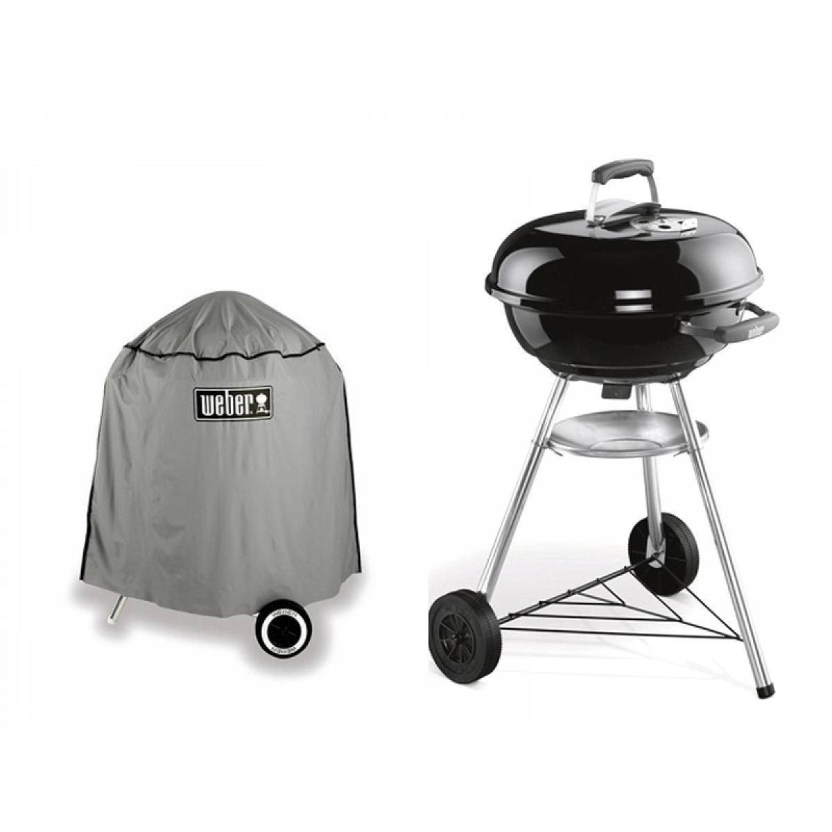 kit coal barbecue compact kettle weber 47 cm. Black Bedroom Furniture Sets. Home Design Ideas