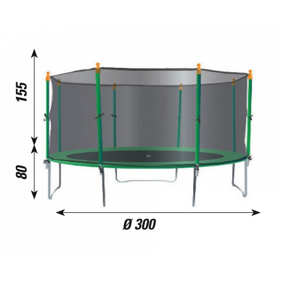 Kinder trampolin mit sicherheitsnetz verdegarden mod te300 for Gartenpool 300 cm