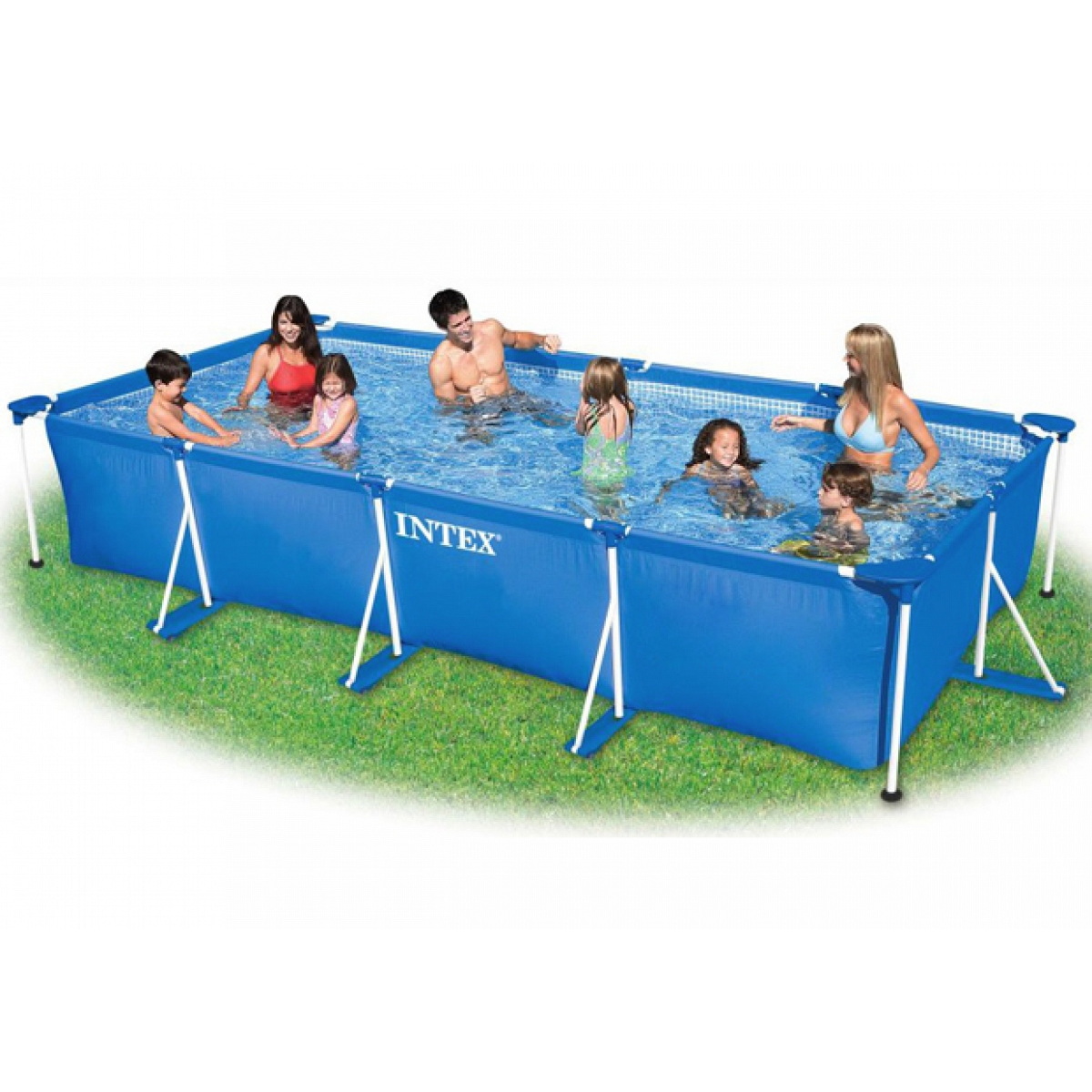 Rectangular pool intex 450x220x84 with metal frame for Pool time pools