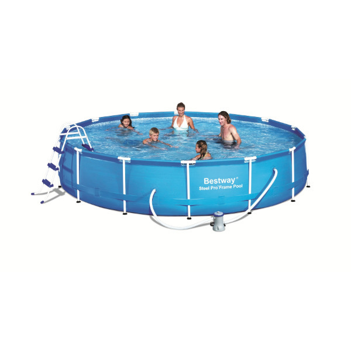 Round pool bestway 457x91 mod steel pro bestway above for 7in1 set garten pool 457 x 91 cm