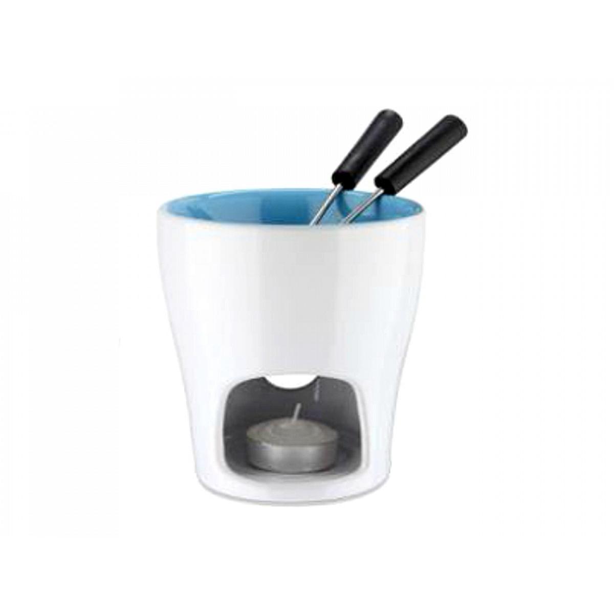 5 teiliges schoko fondue eva collection innen blau eva. Black Bedroom Furniture Sets. Home Design Ideas