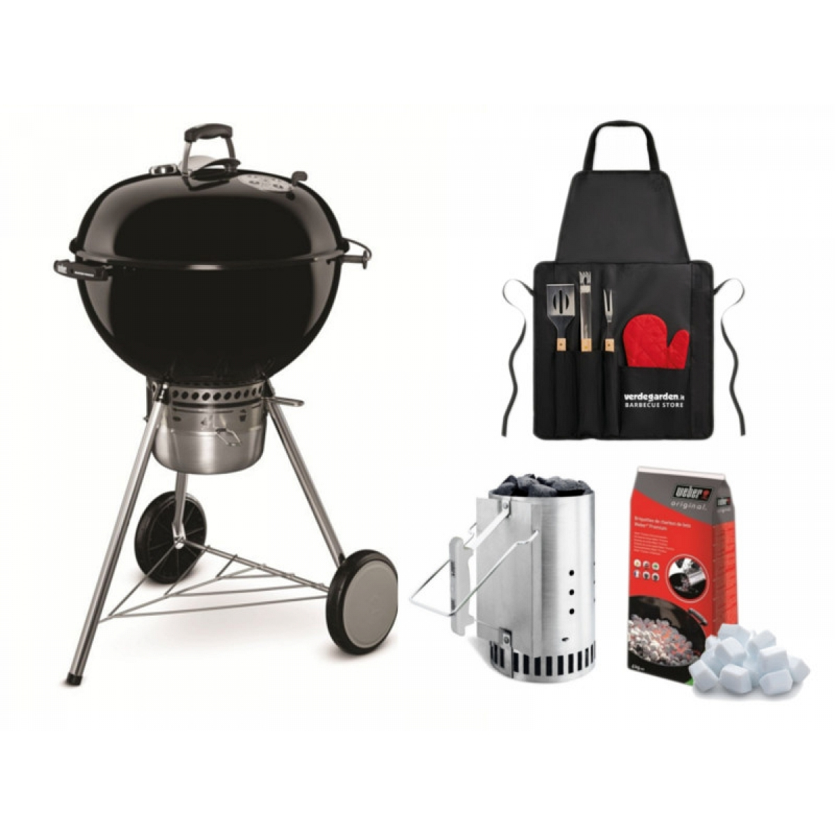 Charcoal weber master touch gbs 57 with chimney kit for Weber master touch