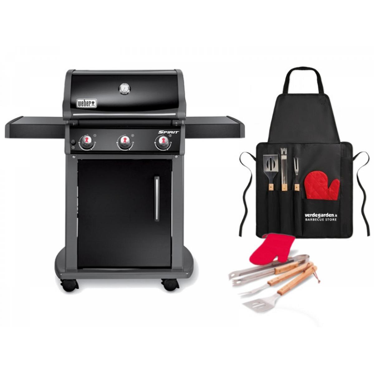 barbecue gas spirit e 310 weber with 3 burners. Black Bedroom Furniture Sets. Home Design Ideas
