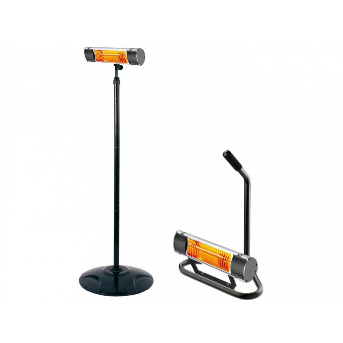 Pedestal Electric Heaters : Stand and pedestal for infrared lamp plein air
