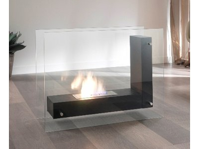 Bio ethanol fireplace Stones mod. Crossing double bedded burner 1,5 Lt.