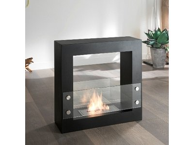 Bio ethanol fireplace Stones mod. Daysign Black double bedded burner 1,5 Lt.