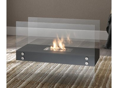 Bio ethanol fireplace Stones mod. Theremin double bedded burner 1,5 Lt.