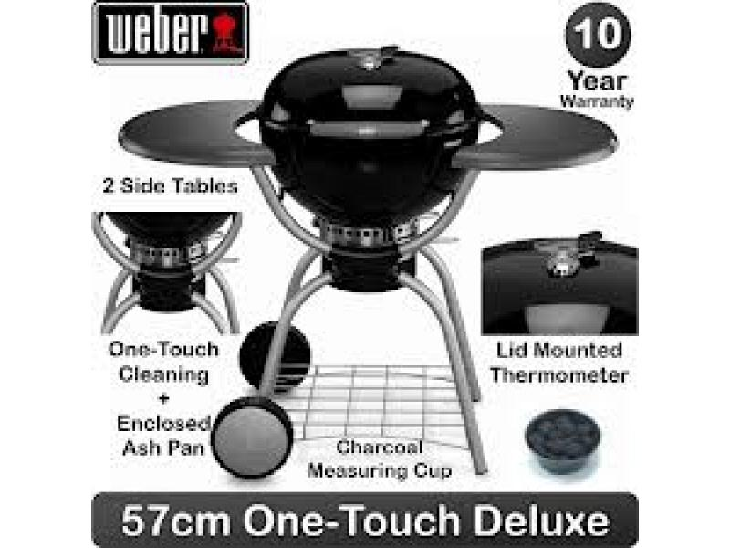 coal barbecue weber with integrated thermometer. Black Bedroom Furniture Sets. Home Design Ideas