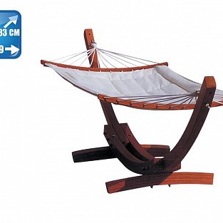 Vette Hardwood hammock with cotton cloth in cream color
