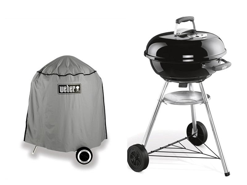 Kit coal barbecue Compact Kettle Weber 47 cm