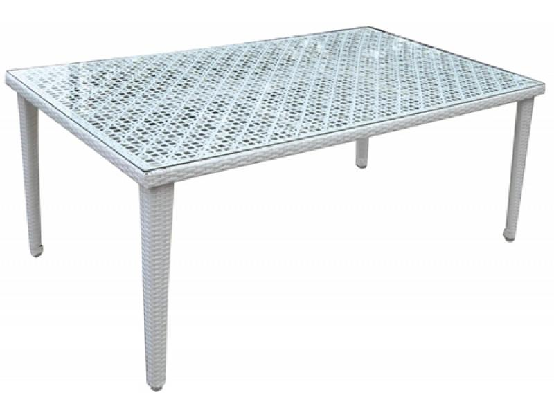 gartentisch mit glasplatte rechteckig mod verdegarden. Black Bedroom Furniture Sets. Home Design Ideas