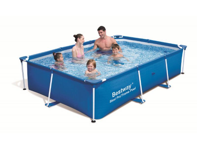 Rectangular pool bestway 259x170x61 mod steel pro bestway for Bestway pool folie