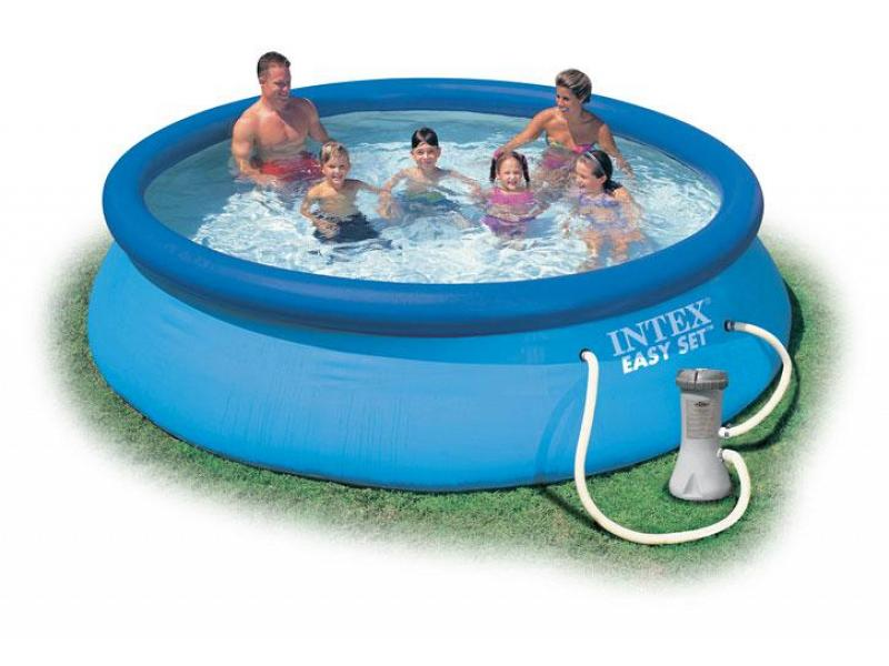 Round pool intex 366x76 mod easy set intex piscine above for Liner piscine intex