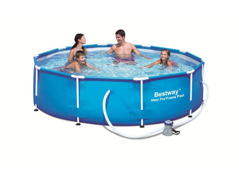 Round Pool Bestway 305x76 Mod Steel Pro With Pump Bestway