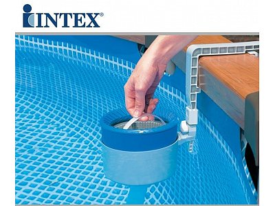 Rectangular pool intex 732x366x132 mod ultra frame with for Filtre skimmer piscine