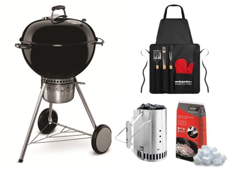 charcoal weber master touch gbs 57 with chimney kit. Black Bedroom Furniture Sets. Home Design Ideas