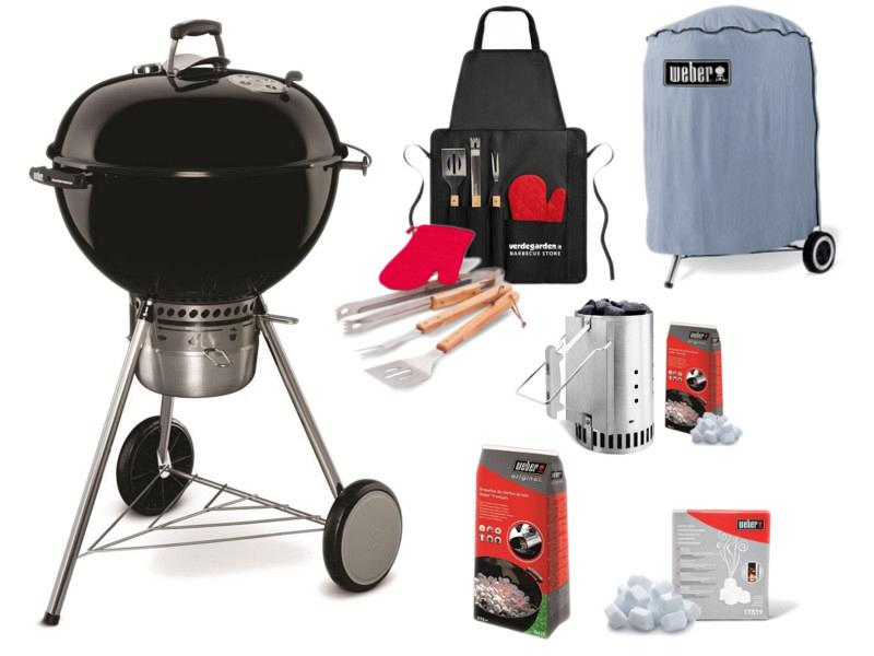 Charcoal weber master touch gbs 57 complete kit for Weber master touch