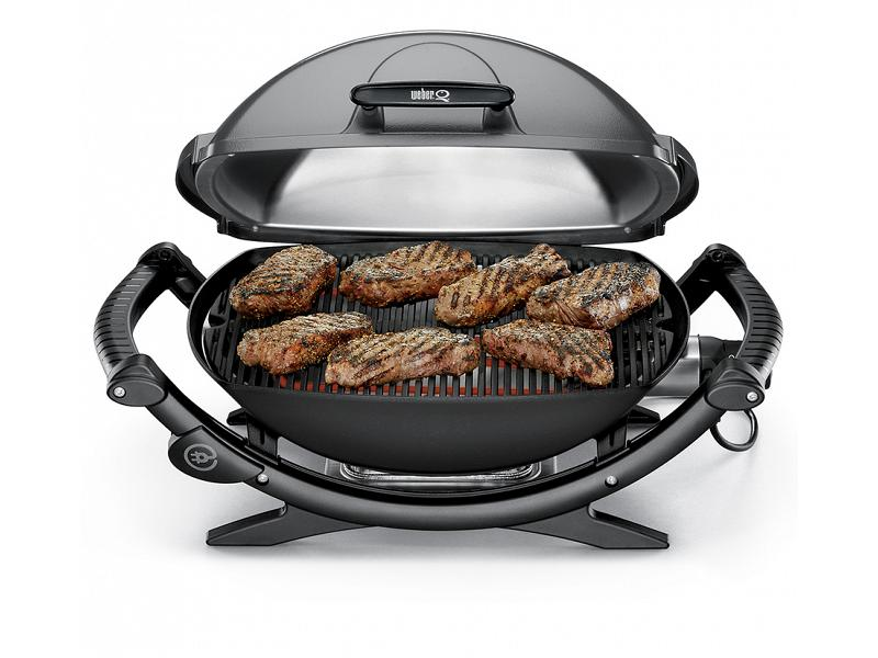 electric barbecue weber q1400 with apron to grill. Black Bedroom Furniture Sets. Home Design Ideas