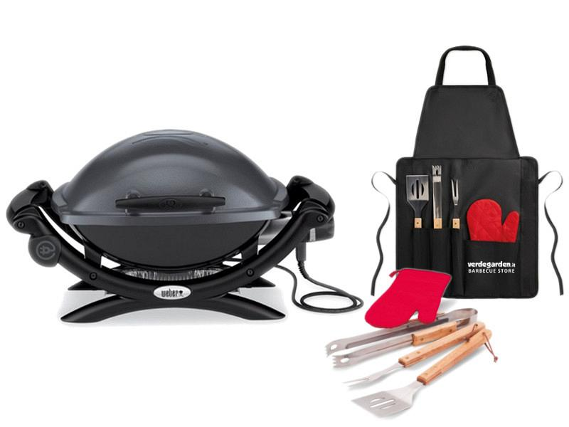 Electric Barbecue Weber Q1400 with apron to grill