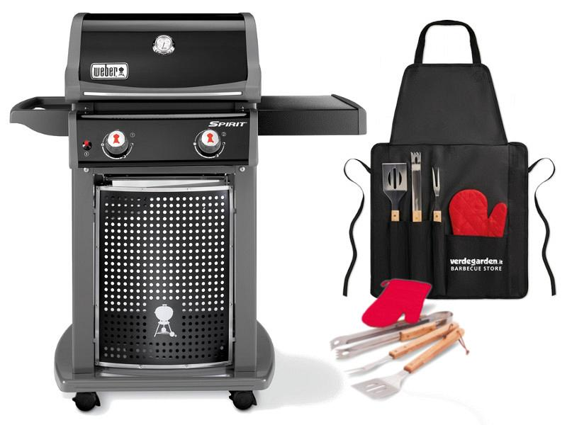 barbecue gas spirit eo 210 black with 2 cooking grates. Black Bedroom Furniture Sets. Home Design Ideas